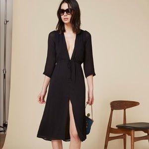 NWT Reformation Bree Dress in Black, sz L